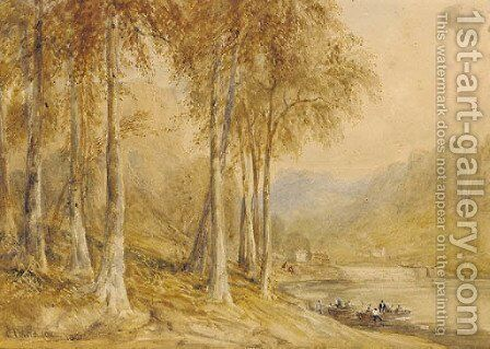 New Weir on the River Wye by David Cox - Reproduction Oil Painting