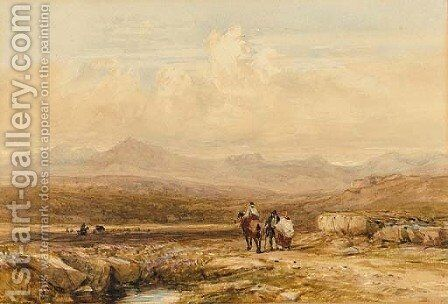 The Snowdon Range by David Cox - Reproduction Oil Painting