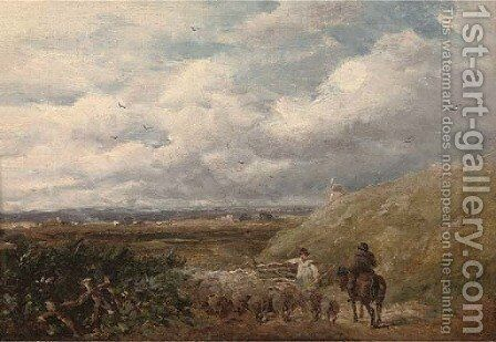 Changing pastures by David Cox - Reproduction Oil Painting