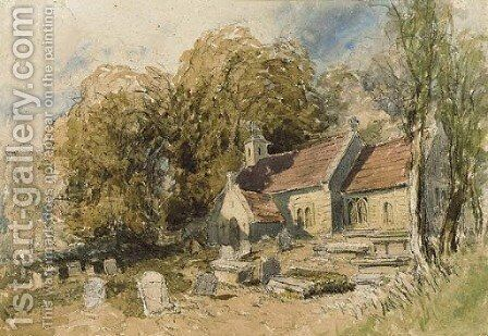 Bettws-y-Coed Church, North Wales 2 by David Cox - Reproduction Oil Painting