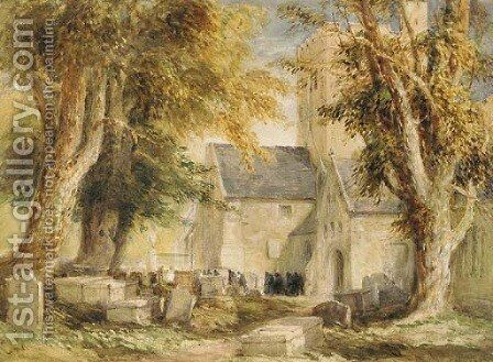A Welsh Funeral by David Cox - Reproduction Oil Painting