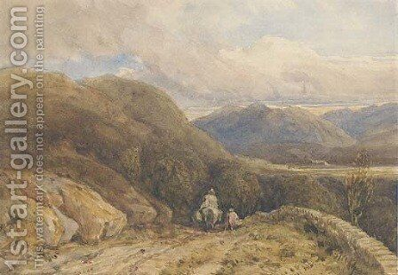 A Welsh mountain valley by David Cox - Reproduction Oil Painting