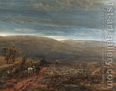 Crossing the moors by David Cox - Reproduction Oil Painting
