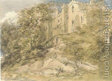 Haddon Hall, Derbyshire by David Cox - Reproduction Oil Painting
