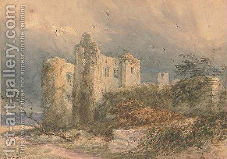 Kenilworth Castle, a blustery day by David Cox - Reproduction Oil Painting
