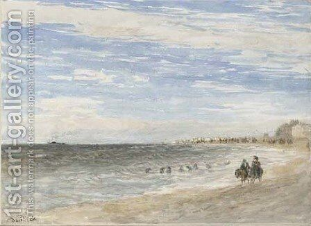 Rhyl Sands 2 by David Cox - Reproduction Oil Painting