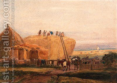 The haymakers by David Cox - Reproduction Oil Painting