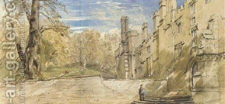The Terrace, Haddon Hall, Derbyshire by David Cox - Reproduction Oil Painting