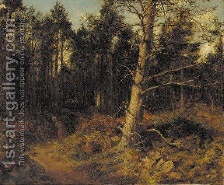 Faggot gatherer, Birnam by David Farquharson - Reproduction Oil Painting