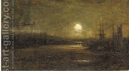 Inverness under moonlight by David Farquharson - Reproduction Oil Painting