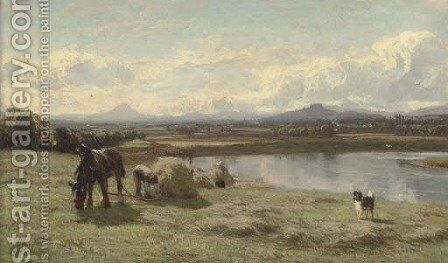 Stirling and Ben Lomond from the Forth by David Farquharson - Reproduction Oil Painting