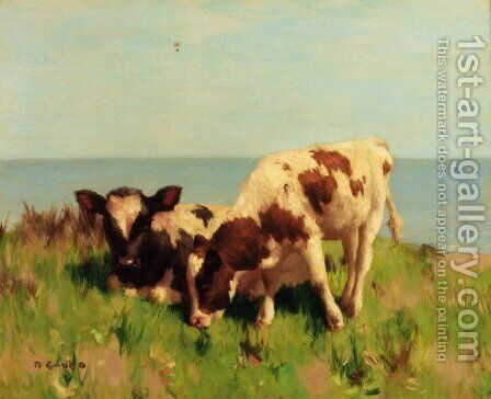 The Shore Pasture by David Gauld - Reproduction Oil Painting