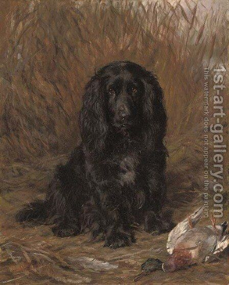 A well-behaved spaniel by David George Steell - Reproduction Oil Painting