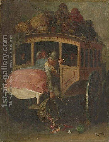 The Stage Coach by David Gilmour Blythe - Reproduction Oil Painting