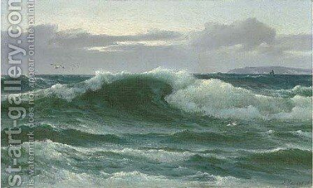 A breaking wave by David James - Reproduction Oil Painting