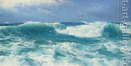 Atlantic rollers by David James - Reproduction Oil Painting