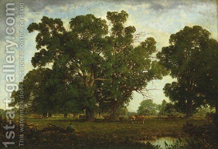 A Pasturage by David Johnson - Reproduction Oil Painting