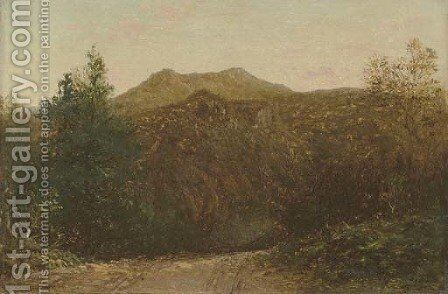 Franconia Notch, New Hampshire by David Johnson - Reproduction Oil Painting