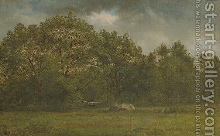 New Hampshire Landscape by David Johnson - Reproduction Oil Painting