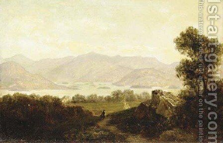 View of the Narrows, Lake George by David Johnson - Reproduction Oil Painting