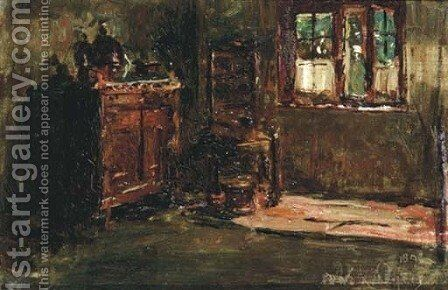 A modest interior by David Oyens - Reproduction Oil Painting