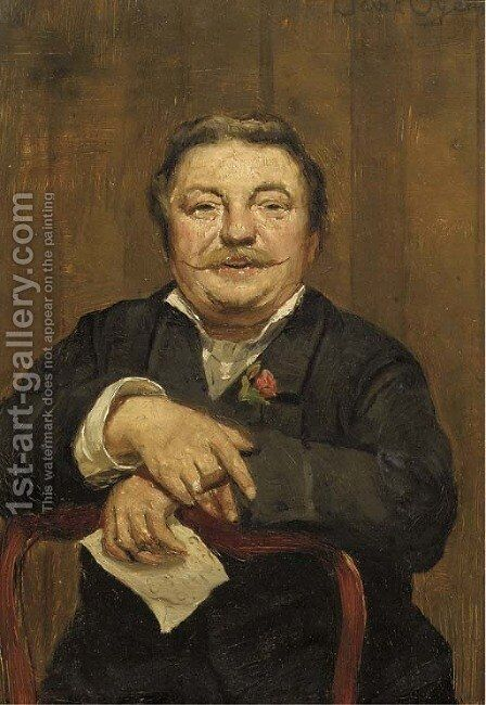 Portrait of the artist's brother Pieter by David Oyens - Reproduction Oil Painting