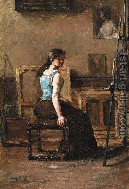 The artist's studio by David Oyens - Reproduction Oil Painting