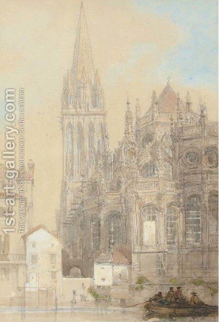The Church of St. Pierre, Caen by David Roberts - Reproduction Oil Painting