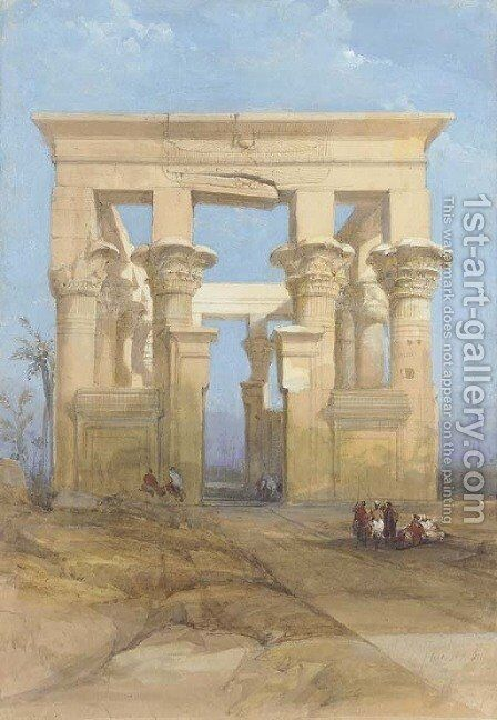 The Hypaethral temple, Philae, Egypt by David Roberts - Reproduction Oil Painting