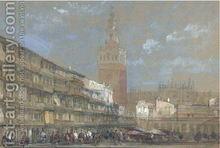 The Moorish Tower at Seville, called the Giralda by David Roberts - Reproduction Oil Painting
