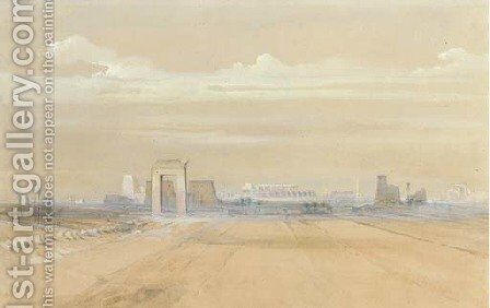 View of Karnak, Egypt by David Roberts - Reproduction Oil Painting