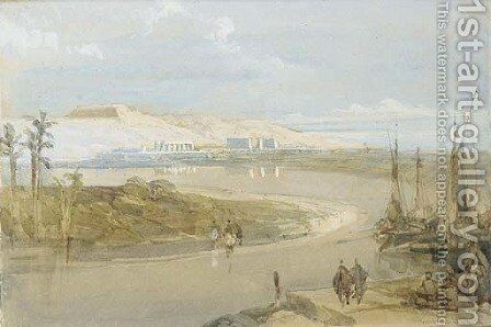 View of Luxor, Egypt by David Roberts - Reproduction Oil Painting