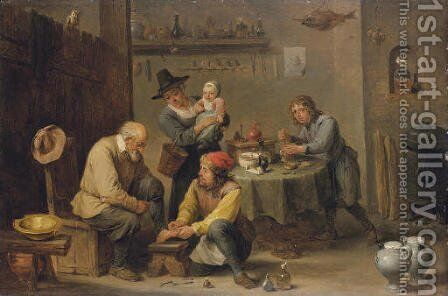 A doctor's surgery by David III Teniers - Reproduction Oil Painting