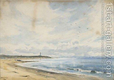 Lossiemouth, on the Moray Firth by David West - Reproduction Oil Painting