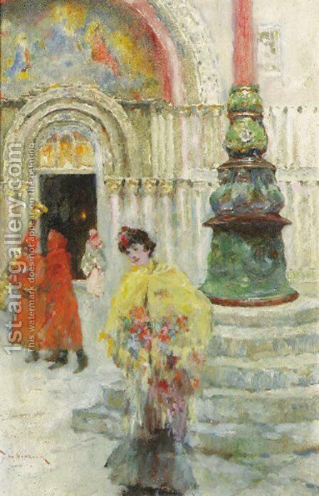 The Piazetta, Venice by David Woodlock - Reproduction Oil Painting