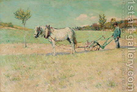 Ploughing by Dawson Dawson-Watson - Reproduction Oil Painting