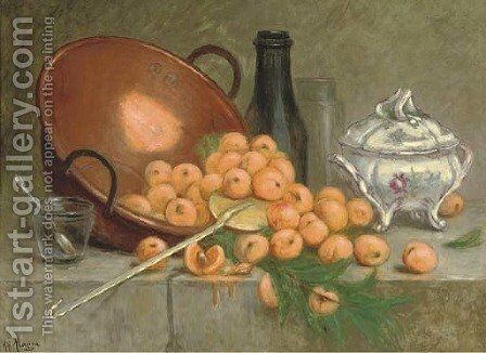 Cascade d'abricots by Desire Alfred Magne - Reproduction Oil Painting