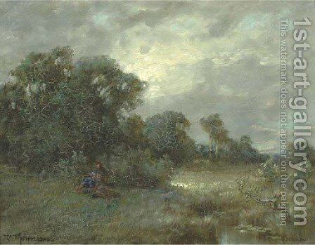 Women resting on the heath by Desire Thomassin - Reproduction Oil Painting