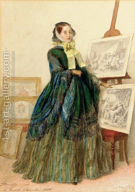 Grand Duchess Maria Nikolaevna of Russia by Auguste Raffet - Reproduction Oil Painting