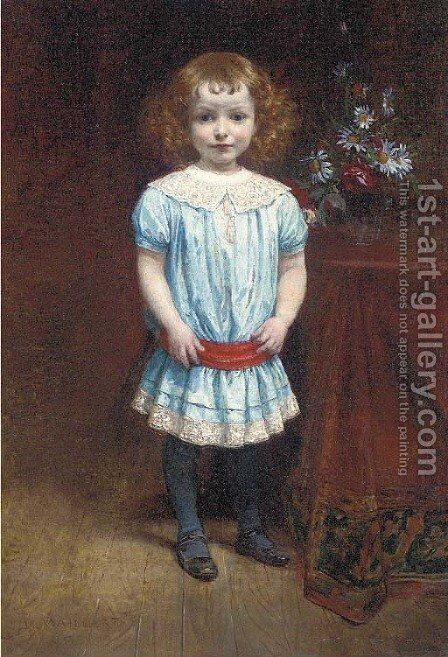 La jolie petite by Diogene Ulyssee Napoleon Maillart - Reproduction Oil Painting