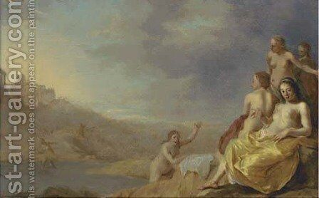 Diana and Actaeon by Dirck van der B Lisse - Reproduction Oil Painting