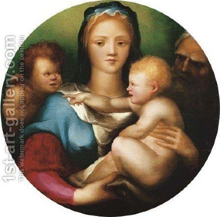 The Holy Family with Saint John the Baptist by Domenico Beccafumi - Reproduction Oil Painting