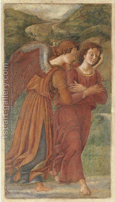 Two Angels in Adoration by Domenico Ghirlandaio - Reproduction Oil Painting