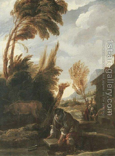 The Parable of the Treasure Hidden in the Field by Domenico Fetti - Reproduction Oil Painting