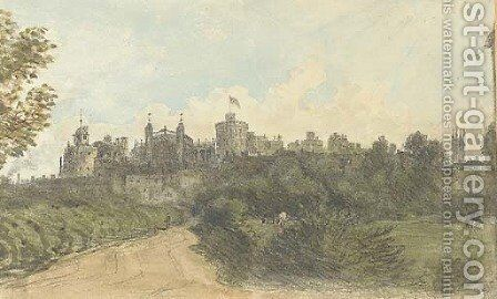 A view of Windsor Castle from Clewer Lane by Dr. William Crotch - Reproduction Oil Painting
