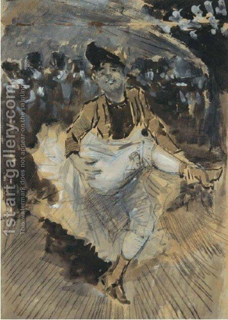 Can Can dancer by Dutch School - Reproduction Oil Painting