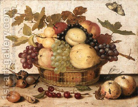 Pears, Peaches by Dutch School - Reproduction Oil Painting