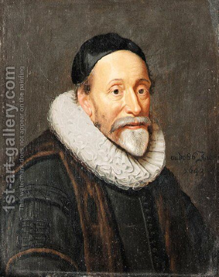 Portrait of a Gentleman, aged 86 by Dutch School - Reproduction Oil Painting