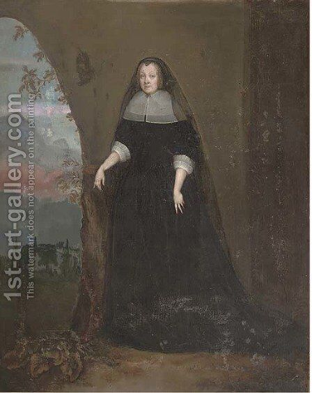 Portrait of a lady 2 by Dutch School - Reproduction Oil Painting