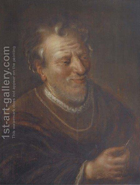 The money lender by Dutch School - Reproduction Oil Painting